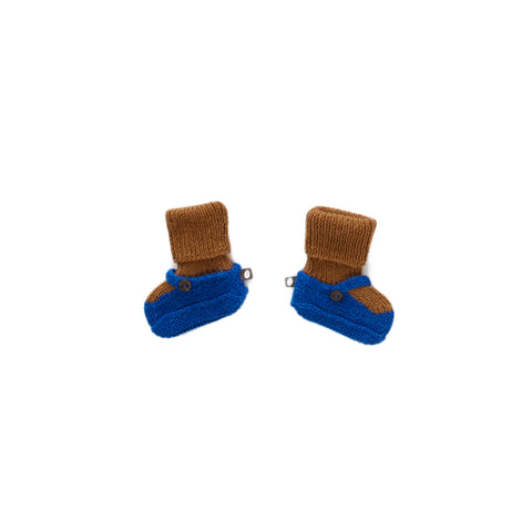 Mary Jane Booties-Electric Blue/Olive-6M-Oeuf LLC