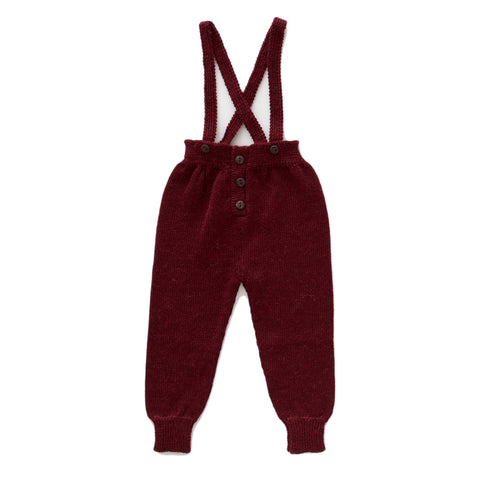 Suspender Pants-Burgundy-6M-Oeuf LLC
