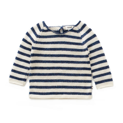 Striped Raglan Sweater - Oeuf LLC