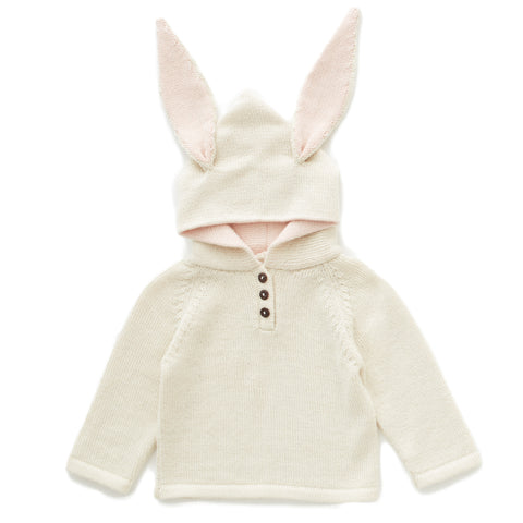 Rabbit Hooded Sweater - Oeuf LLC