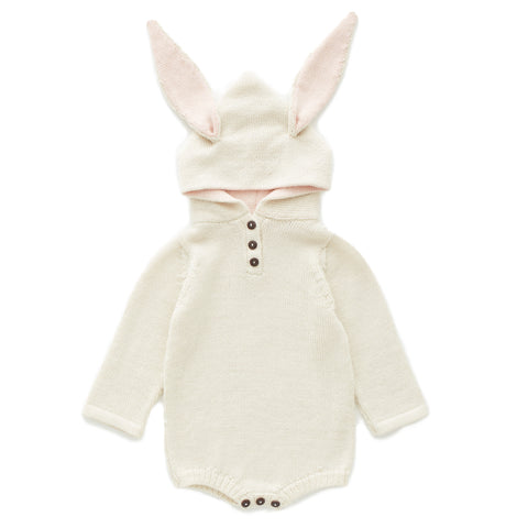 Rabbit Hooded Onesie - Oeuf LLC