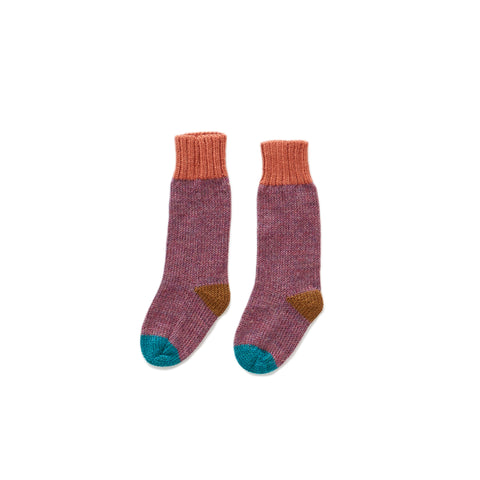 Long Socks-Mauve/Multi-12M-Oeuf LLC