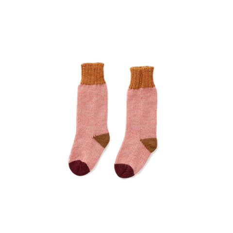 Long Socks-Peony/Multi-12M-Oeuf LLC