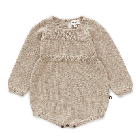 Knit Romper-Grey-6M-Oeuf LLC