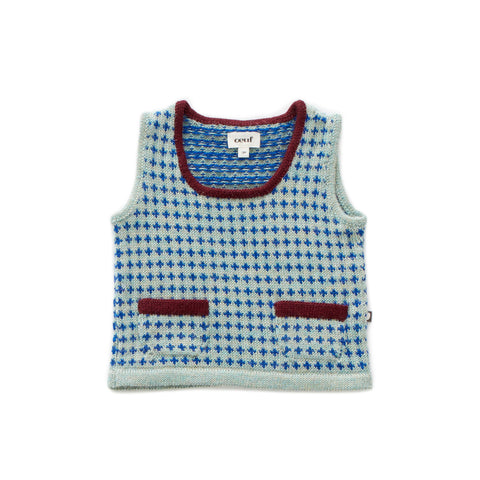 Pullover Vest-Ocean/Electric Blue-6M-Oeuf LLC