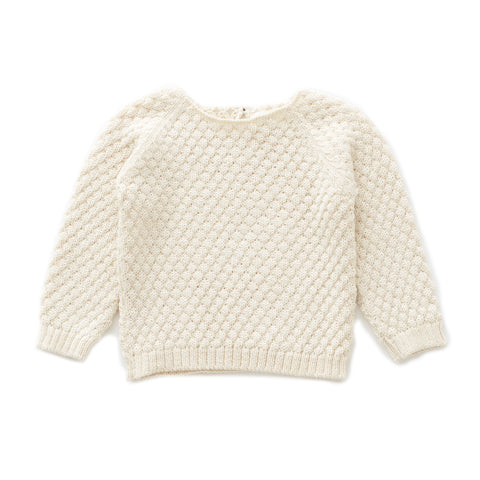 Sheep Stitch Sweater-White-6M-Oeuf LLC