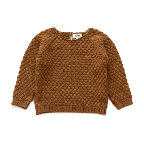 Sheep Stitch Sweater-Olive-6M-Oeuf LLC