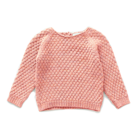 Sheep Stitch Sweater-Peony-6M-Oeuf LLC