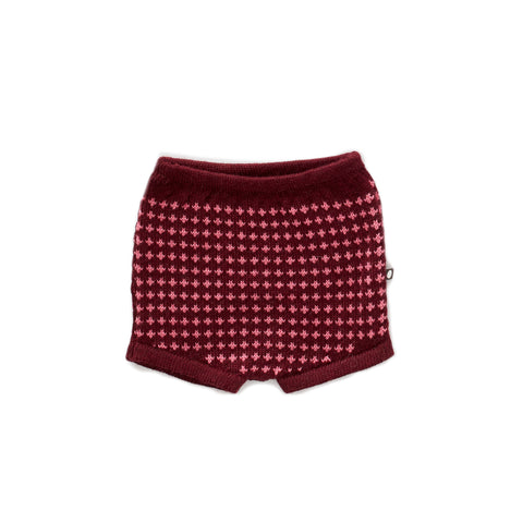 Shorts-Burgundy/Morning Glory-6M-Oeuf LLC