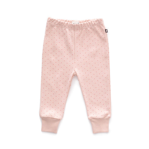 Leggings-Light Pink/Rust Dots-3M-Oeuf LLC