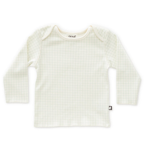 LS Tee-White/Checks-3M-Oeuf LLC