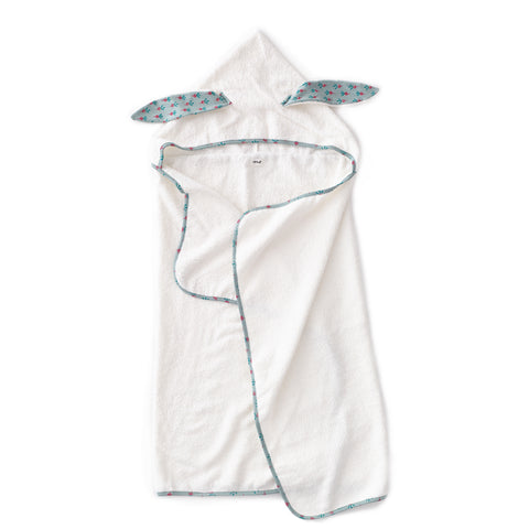 Kid Hooded Towel-Jadeite/Radish-Oeuf LLC