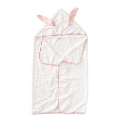Kid Hooded Towel-Light Pink/Rust Dots-Oeuf LLC