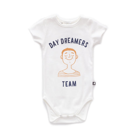Back Button Onesie-White/Daydream-3M-Oeuf LLC