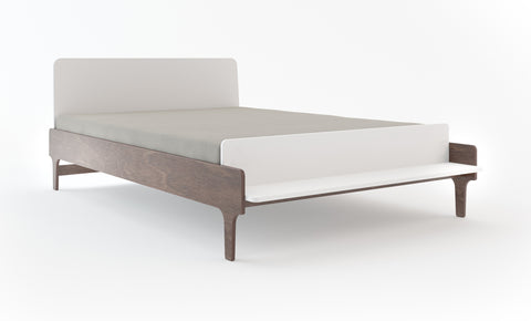 River Full Bed-White/Walnut-Oeuf LLC