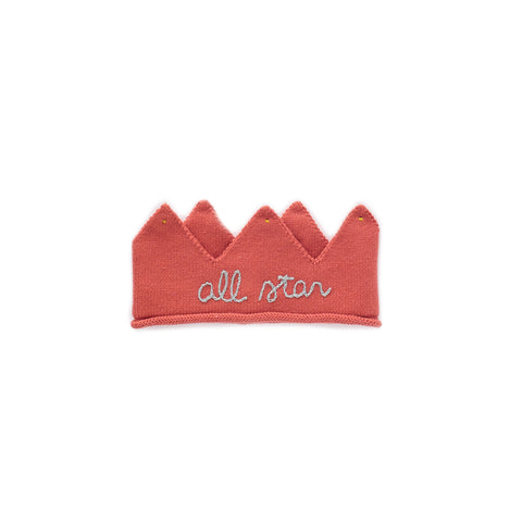 Embroidered Crown-Rust/All Star-0/3Y-Oeuf LLC