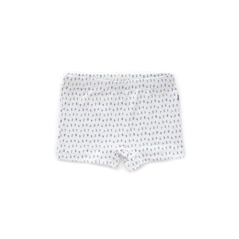Swim Trunks-White/Numbers-12M-Oeuf LLC