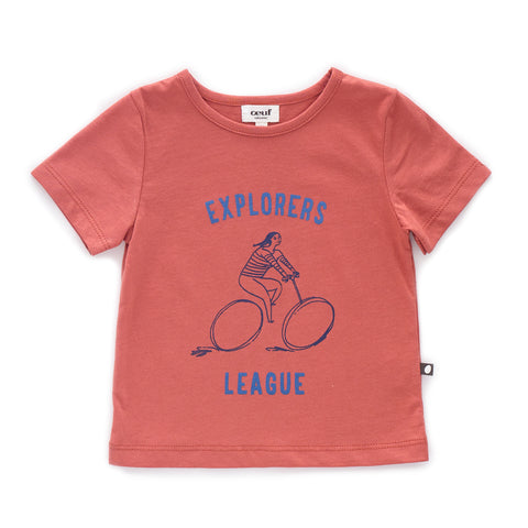 Tee Shirt-Explorer-Rust-12M-Oeuf LLC