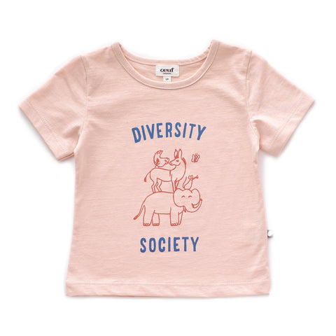 Tee Shirt-Diversity-Light Pink-12M-Oeuf LLC