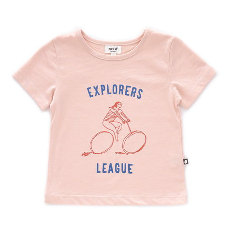 Tee Shirt-Explorer-Light Pink-12M-Oeuf LLC