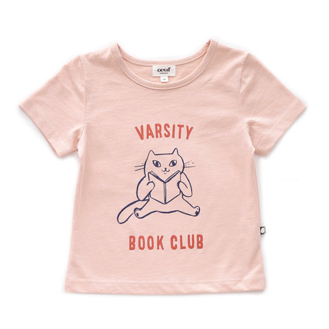 Tee Shirt-Book Club-Light Pink-6M-Oeuf LLC