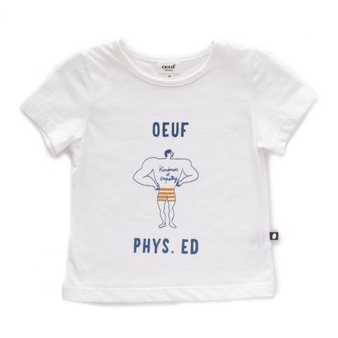 Tee Shirt-Phys Ed-White/Phys Ed-6M-Oeuf LLC
