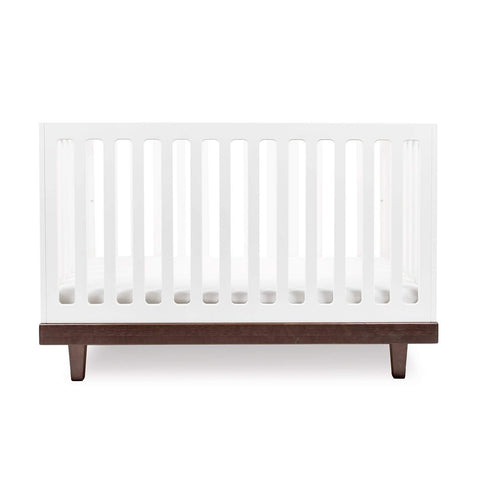 Arbor Crib-White/Walnut-Oeuf LLC