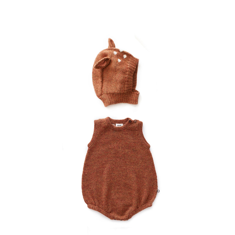 Animal Romper & Hat Set - Oeuf LLC