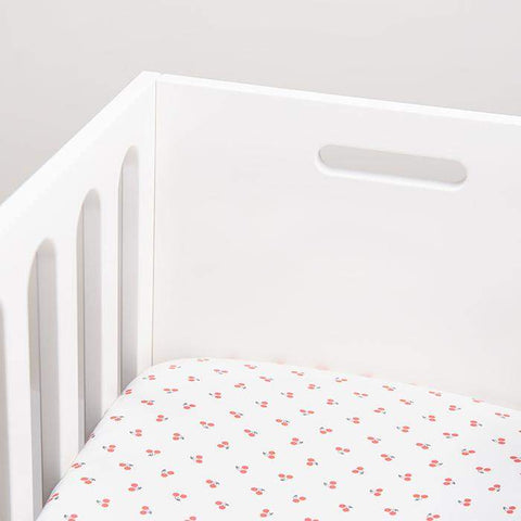bassinet sheet-White/Cherries-Oeuf LLC