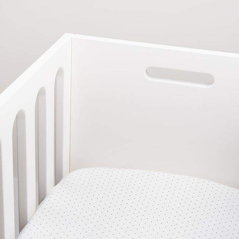 bassinet sheet-White/Indigo Dots-Oeuf LLC