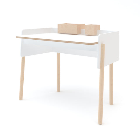 Brooklyn Desk-White/Birch-Oeuf LLC