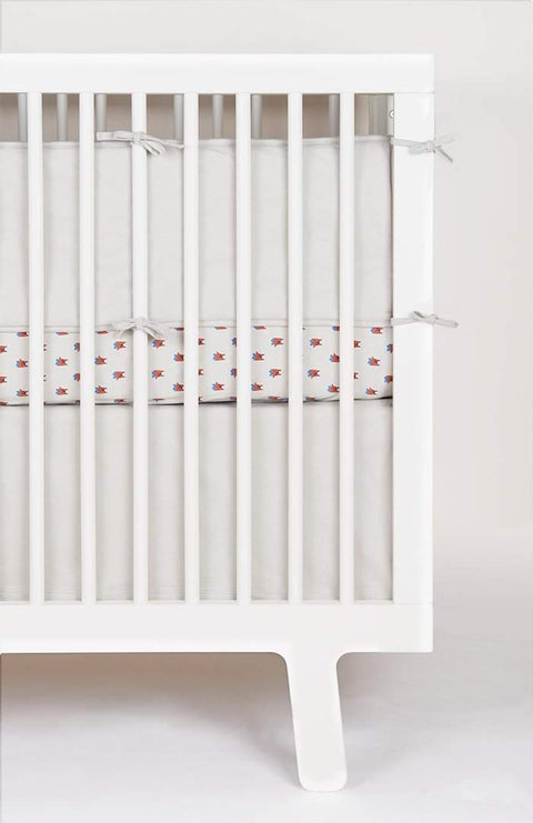 Crib Skirt-Light Grey-Oeuf LLC