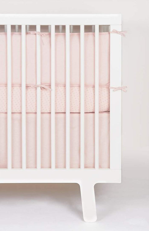 Crib Skirt-Pink-Oeuf LLC