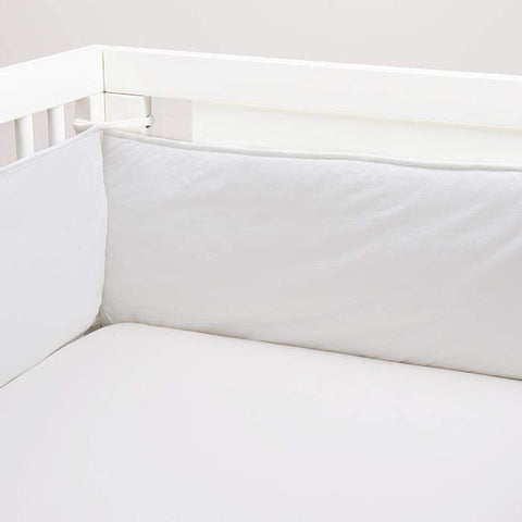 crib/toddler fitted sheet - solid-White-Oeuf LLC