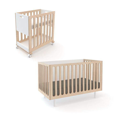 Fawn 2-in-1 Crib System-White/Birch-Oeuf LLC