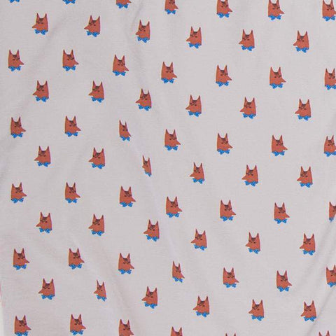 changing pad cover - printed-Light Grey/Fox-Oeuf LLC