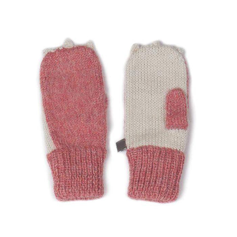 Animal Mittens-Rose Bunny - Oeuf LLC