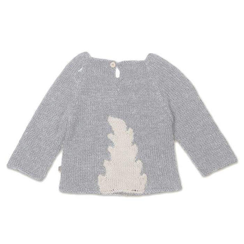 Monster Sweater-Light grey-Oeuf LLC