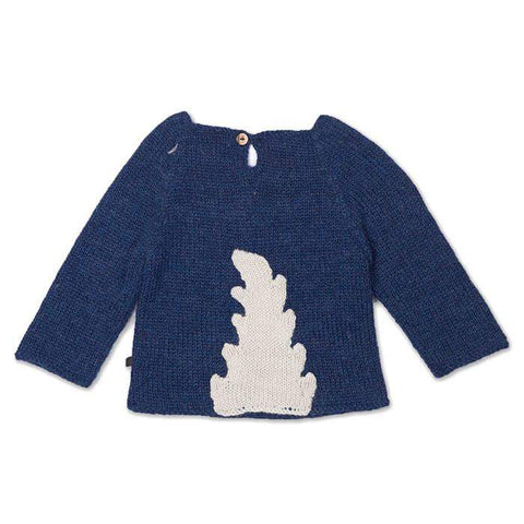 Monster Sweater-Indigo/White - Oeuf LLC