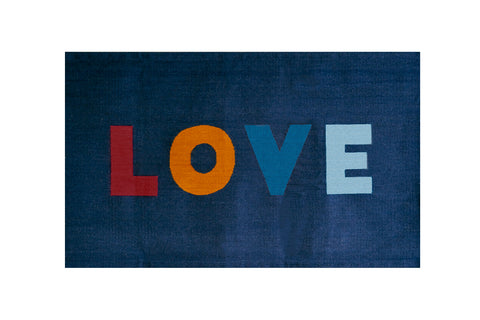 LOVE RUG-BLUE/MULTI-Oeuf LLC