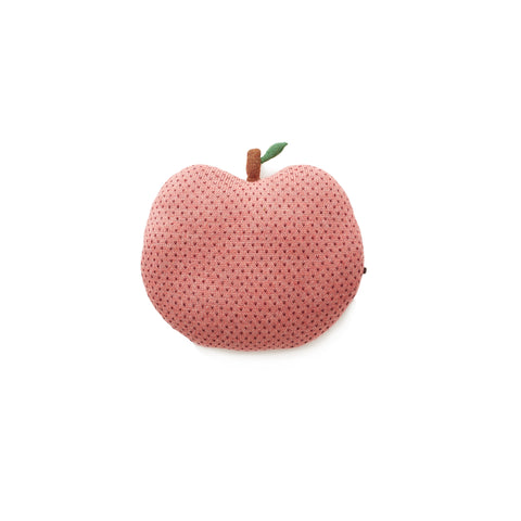 Apple Pillow-Rose/Burgundy Dots-OS-Oeuf LLC