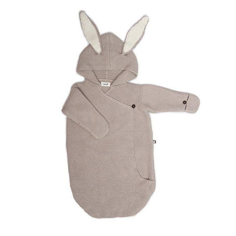Bunny Wrap-Lt. Grey-OS - Oeuf LLC