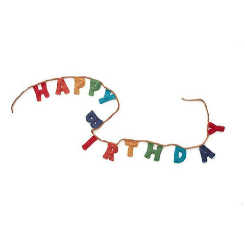Happy Birthday Garland-Red/Multi-OS - Oeuf LLC