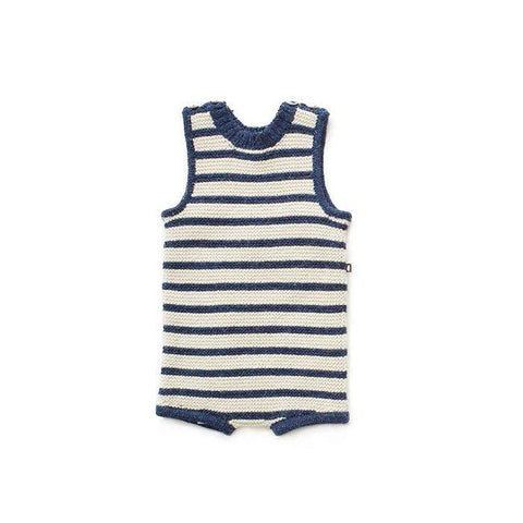 Tank Romper-Indigo/White Stripes-Oeuf LLC