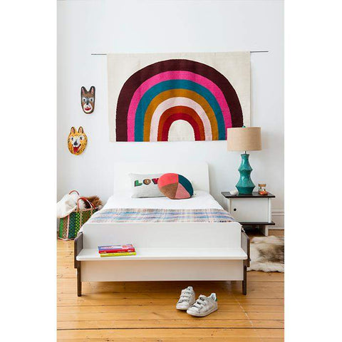 Rainbow Rug-White/Multi-Oeuf LLC