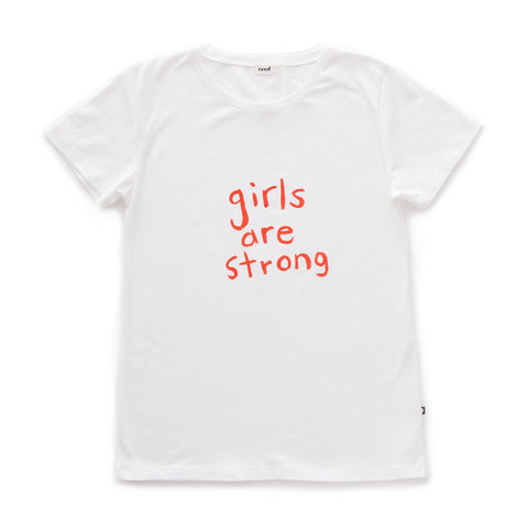 Adult Tee-Girls are Strong-Oeuf LLC