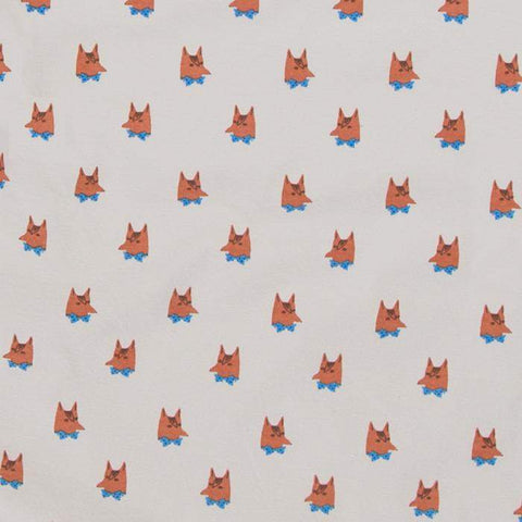 crib/toddler fitted sheet - printed-Light Grey/Fox-Oeuf LLC