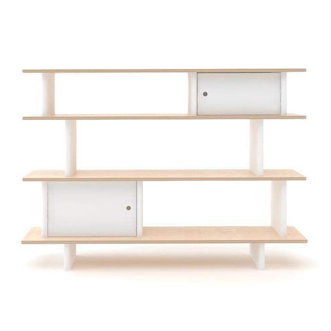 MINI LIBRARY-White/Birch-Oeuf LLC