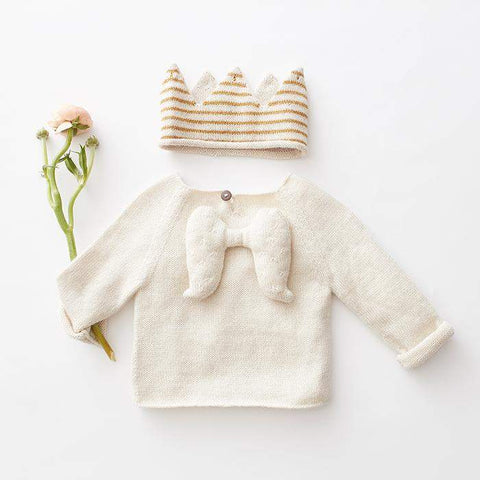 Angel Sweater-White-Oeuf LLC