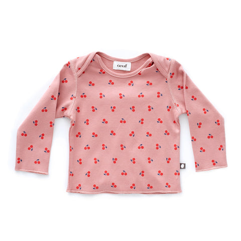 LS Tee-Dark Pink/Cherries-3M-Oeuf LLC